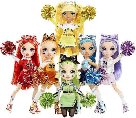 Куклы rainbow high cheerleader рейнбоу хай синяя,зелёная,красная,оранж