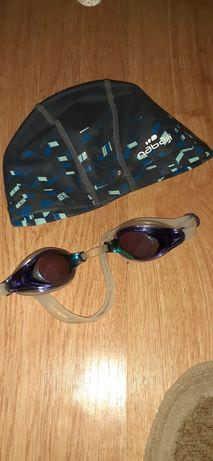 Очки для плаванья+шапочка