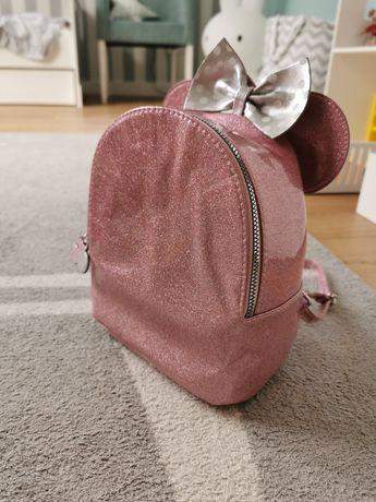 Plecak Myszka Minnie z brokatem. Nowy. Nieużywany.