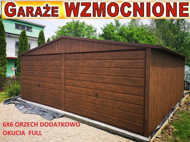 Garaż blaszany 6x5,6x6, panel poziomy wszystkie wymiary