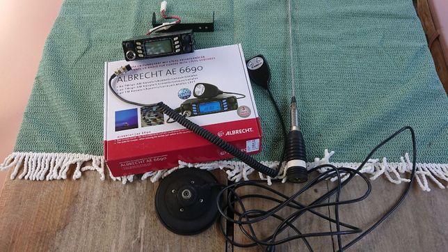 zestaw cb albrecht ae 6690 plus antena ml 145 sirio