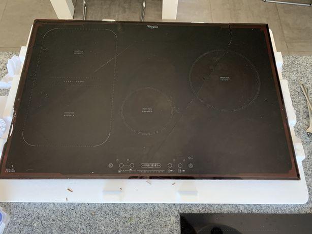 Płyta indukcyjna Whirlpool ACM 814/BA 77 cm szeroka pęknięta, sprawna