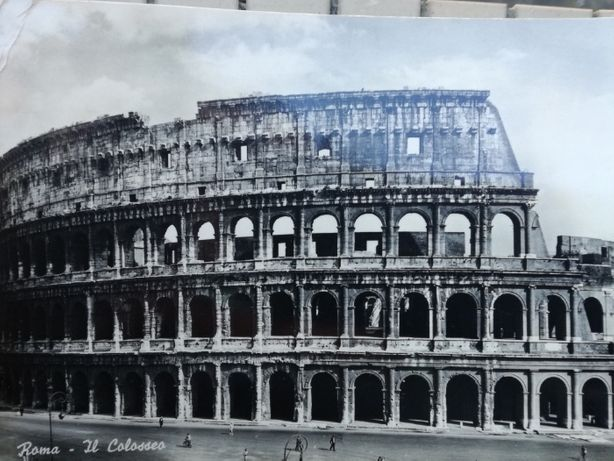 Postal 1950 selado carimbado, Roma