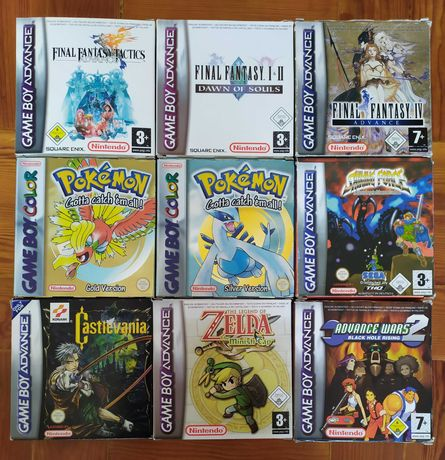 Vários Jogos Gameboy: Final Fantasy + Pokemon + Zelda + Advance Wars