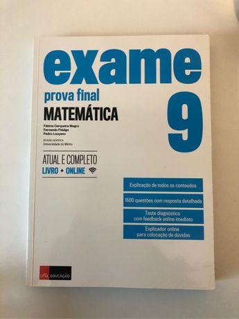 Livro Exame Matemática 9° Ano Leya