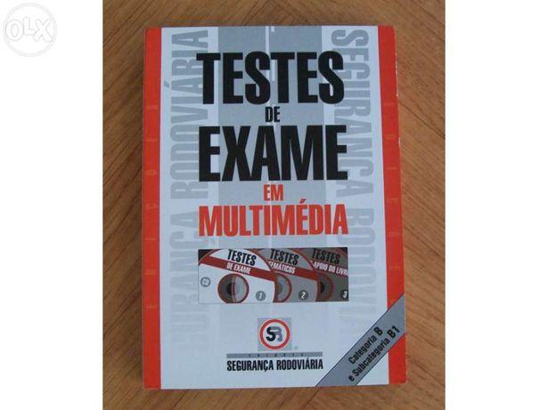 Dvd testes de exame e manual de conducao