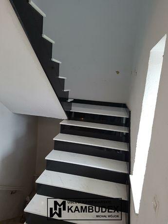 Granit marmur konglomerat parapety schody kominki