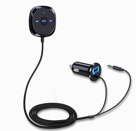 Kit mãos livres Bluetooth (música e chamadas via jack 3.5mm)