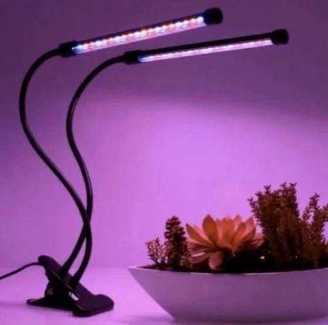 Фитосветильник 2в1 Для растений полный спектр 20Вт Фитолампа GrowLight