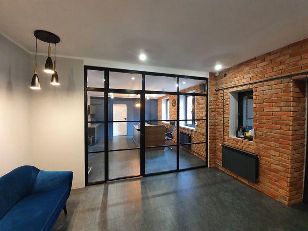 Przeszklenie loft-industrial, ścianka przeszklona, szkło+metal,terminy
