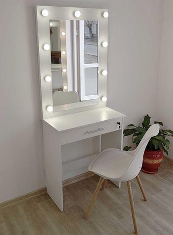 Зеркало макияжное с подсветкой визажное туалетный столик трюмо