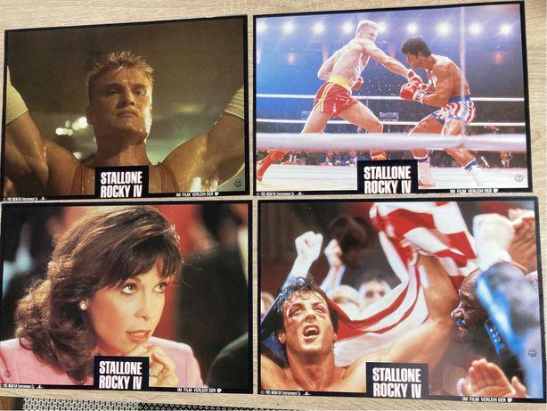 Rocky IV - 4x zdjęcia promo/ karty plakatowe - kadry kinowe