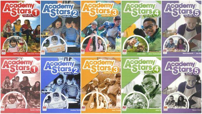 Комплект Academy Stars 1, 2, 3, 4, 5 Student's book + Workbook