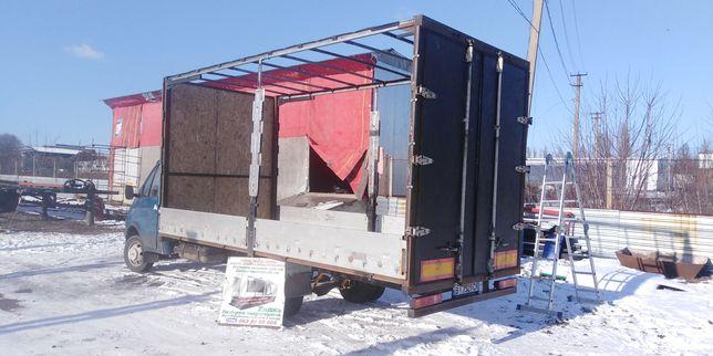 Ворота двери на полуприцеп прицеп грузовик зерновоз борти тент штора
