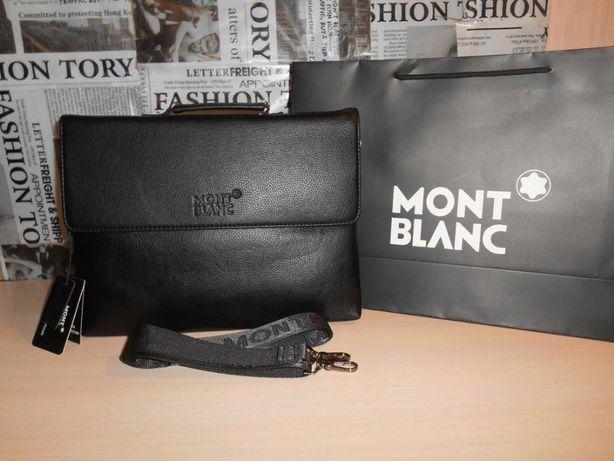 Skorzana męska torba aktówka Mont Blanc, skóra, Niemcy 130-5