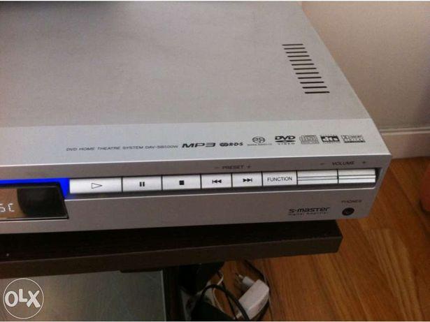 Home cinema sony sistema de colunas wifi e leitor cd