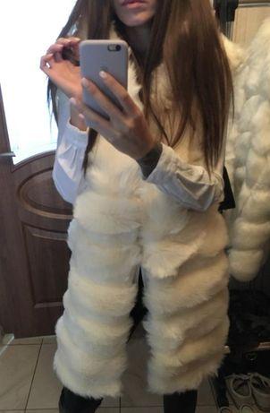 Futrzana kamizelka futro kurtka