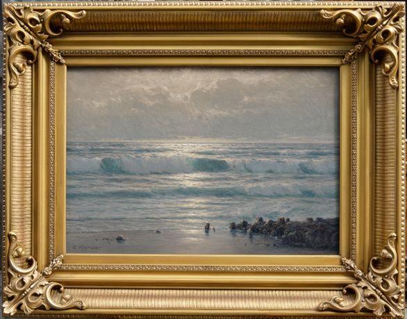 "Carl KENZLER (Berlin 1872-1947 Potsdam) ""Морской пейзаж"". Холст"