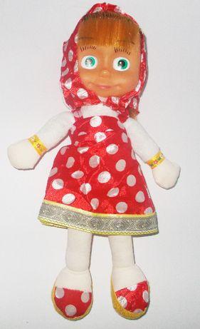 Lalka Masza w sukience mówi i śpiewa 30 cm