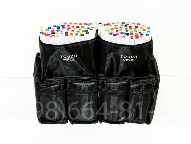 Маркери на спиртовій основі TouchFIVE, набір 60 шт в сумочці