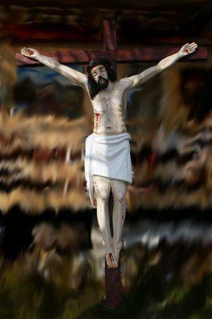 Rzeźba Chrystus na Krzyżu