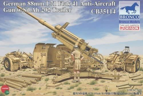 Bronco: German 88mm L71 FlaK 41 Anti-Aircraft Gun