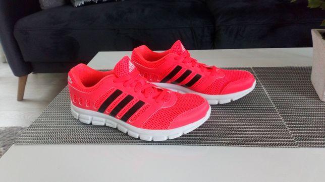 Buty do biegania adidas 38 2/3 wkładka 24 cm pomarańcz czerwień neon