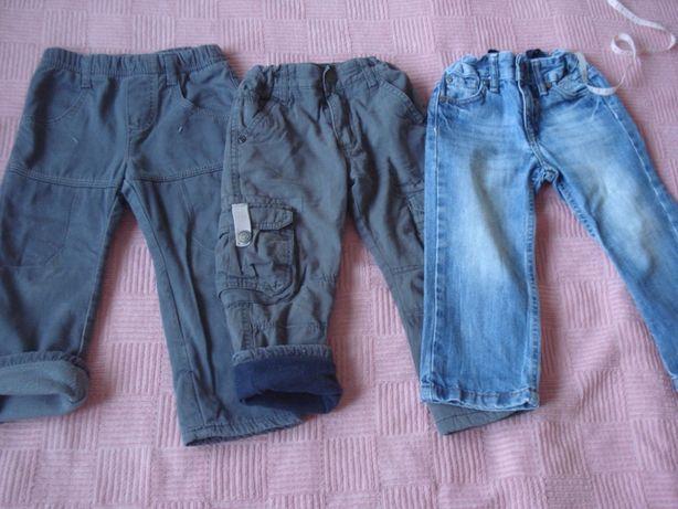 Джинсы утепленные флис, джинсы для двора улицы, 92 см, 1,5-2,5 года.