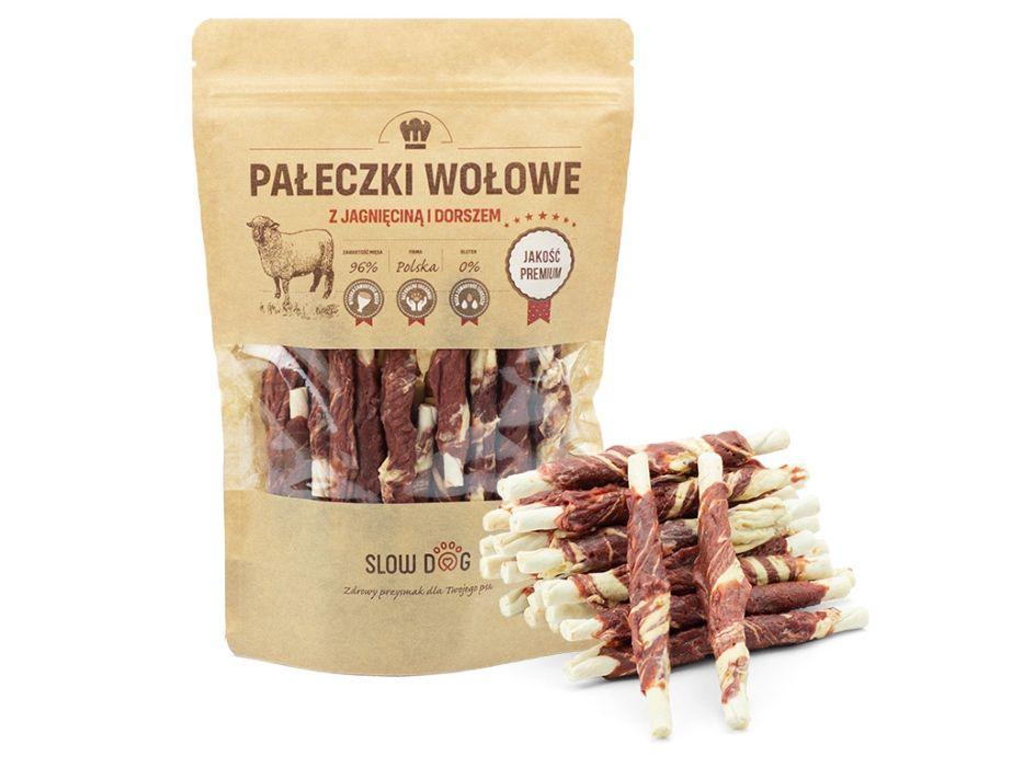 SLOW DOG - przysmak dla psa -Pałeczki z jagnięciną i dorszem -88%mięsa Kraków - image 1