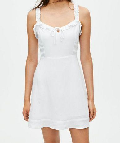 Biała sukienka PULL&BEAR L 40 letnia na lato 100% oddychająca wysyłka