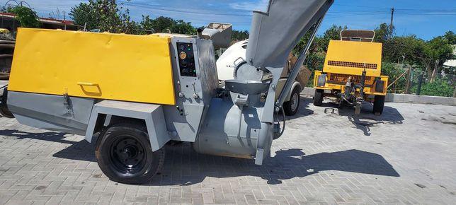 Máquina betonilha a diesel com compressor putzmeister m750