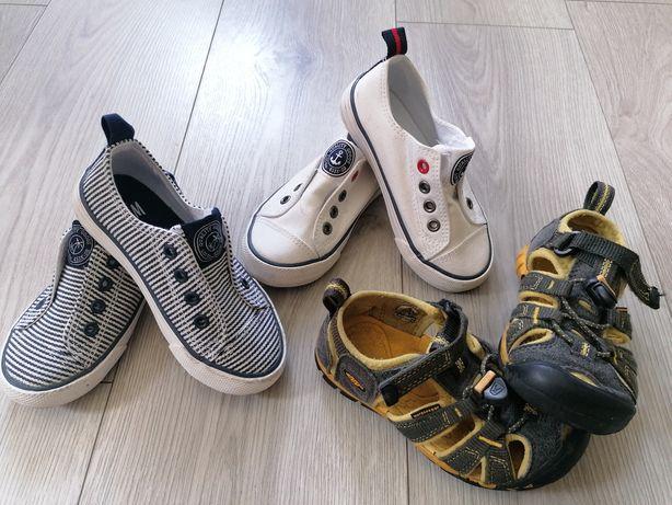 Sandały Keen + trampki H&M 25
