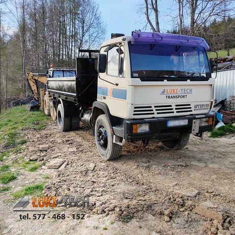 Transport WYWROTKĄ usługi przewóz kamienia gruzu ziemi wywrotka
