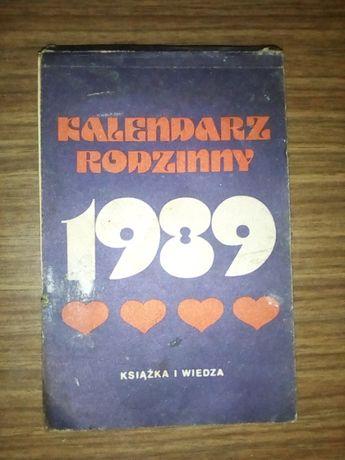 Kalendarz Rodzinny zdzierak z 1989 roku