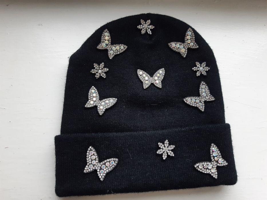 Теплая шапка  со стразами Измаил - изображение 1
