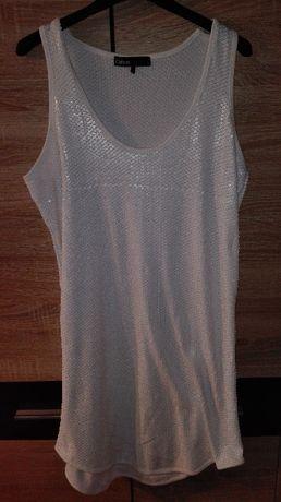 Sukienka biała cekiny CUBUS