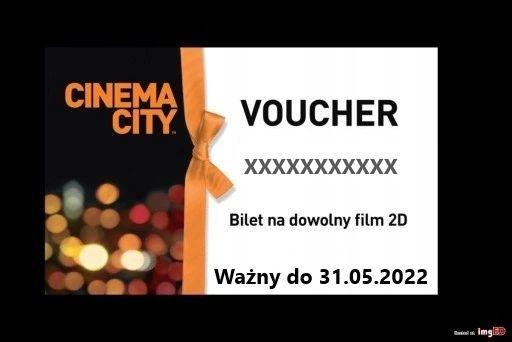 Cinema City - bilet 2D - Kod Voucher - Cała Polska