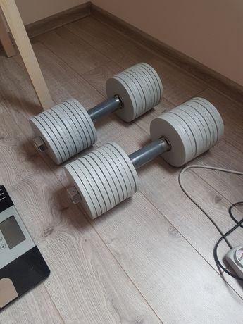 Hantle do ćwiczeń maks 37 kg