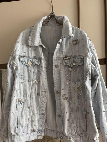Куртка джинсовая chanel,miu miu,zara