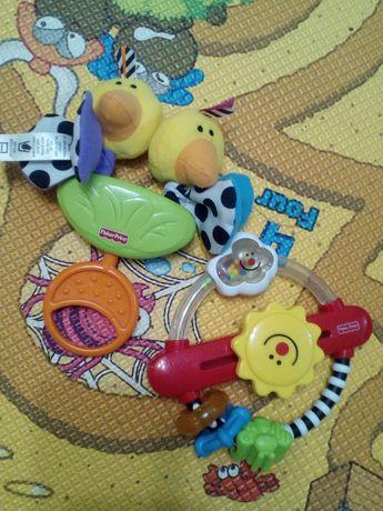 Набор погремушек ,погремушка,игрушки,прорезыватели Fisher Price