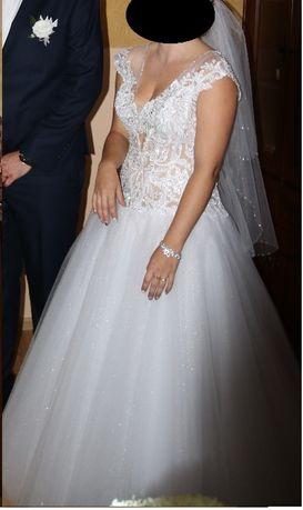 Suknia ślubna Agora 17-16 z kryształkami Swarovskiego