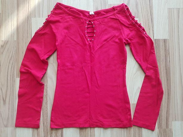 Piękna czerwona koszulka/Bluzka z długim rękawem