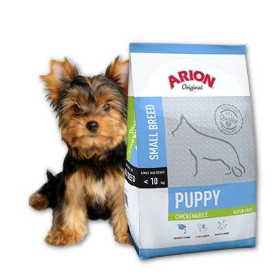 Arion Puppy Small 7,5kg 43%mięsa bez zbóż, m.in.dla ras york, jamnik