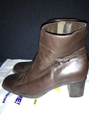 Ботильоны ботинки полусапожки женские кожаные 37