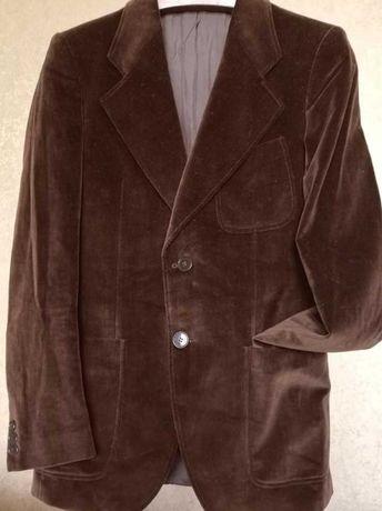 Итальянский велюровый мужской пиджак размер м/l