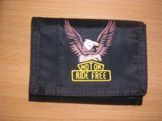Carteira Motor Ride Free preta