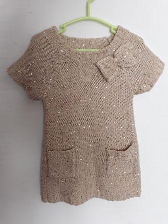 Cekinowa złota sukieneczka