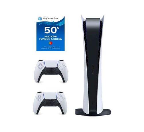 Playstation 5  Digital + comando extra + cartão PSN 50 euros