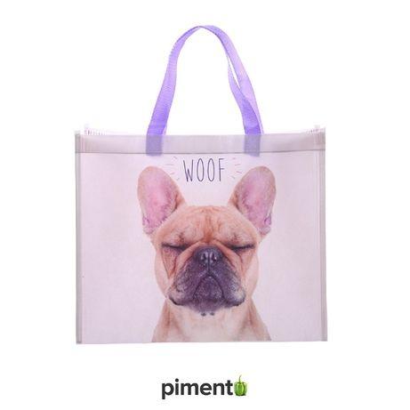 Saco de Compras Woof – Bulldog Francês