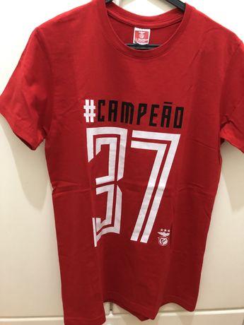 Tshirt mulher Benfica Campeão 37